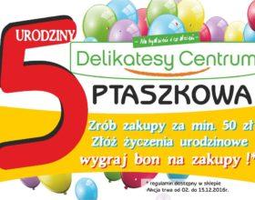 ulotka-5urodziny-delikatesy-centrum-ptaszkowa